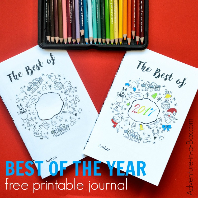 Start a new family tradition for New Year's Eve and make this Best of the Year free printable journal together with kids! Filled with writing and drawing prompts, it captures their best memories and prompts them to make New Year's resolutions.