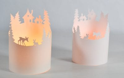 Winter Paper Luminary with a Free Printable Template