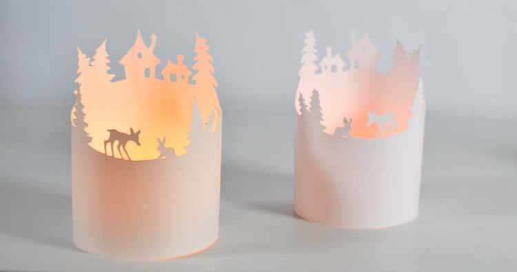 winter paper lantern template  Winter Paper Luminary with a Free Printable Template ...