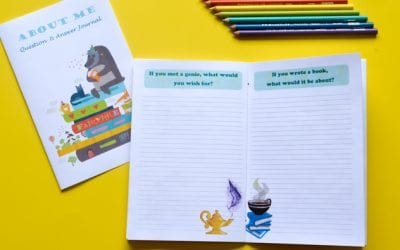 About Me: Free Printable Q&A Journal of Writing Prompts for Kids