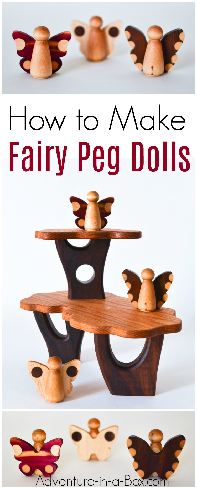 A tutorial on how to turn peg dolls into wooden fairies. A sturdy eco-friendly toy for Walforf classrooms and playrooms.