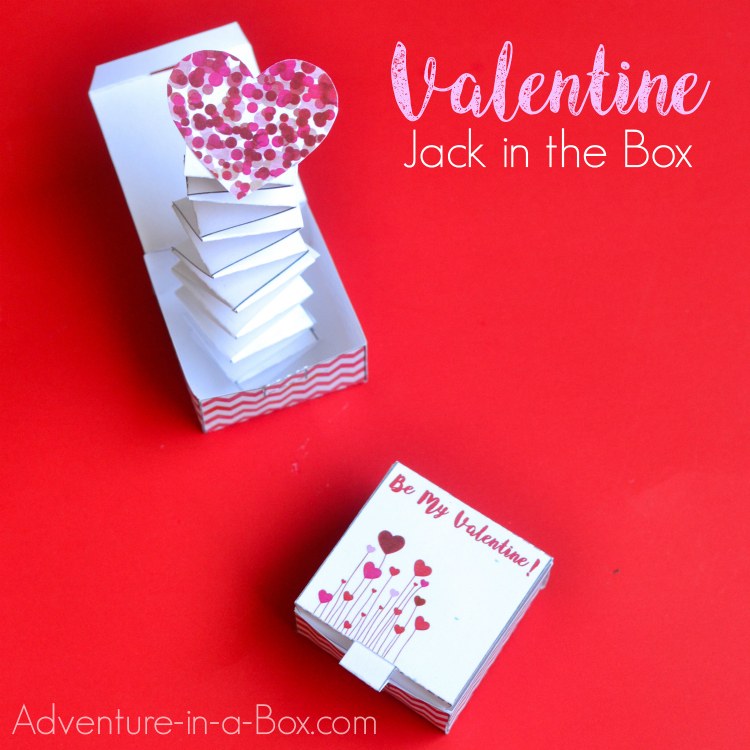 picture regarding Printable Valentines Craft identify Jack within the Box Valentine Paper Craft Experience inside a Box