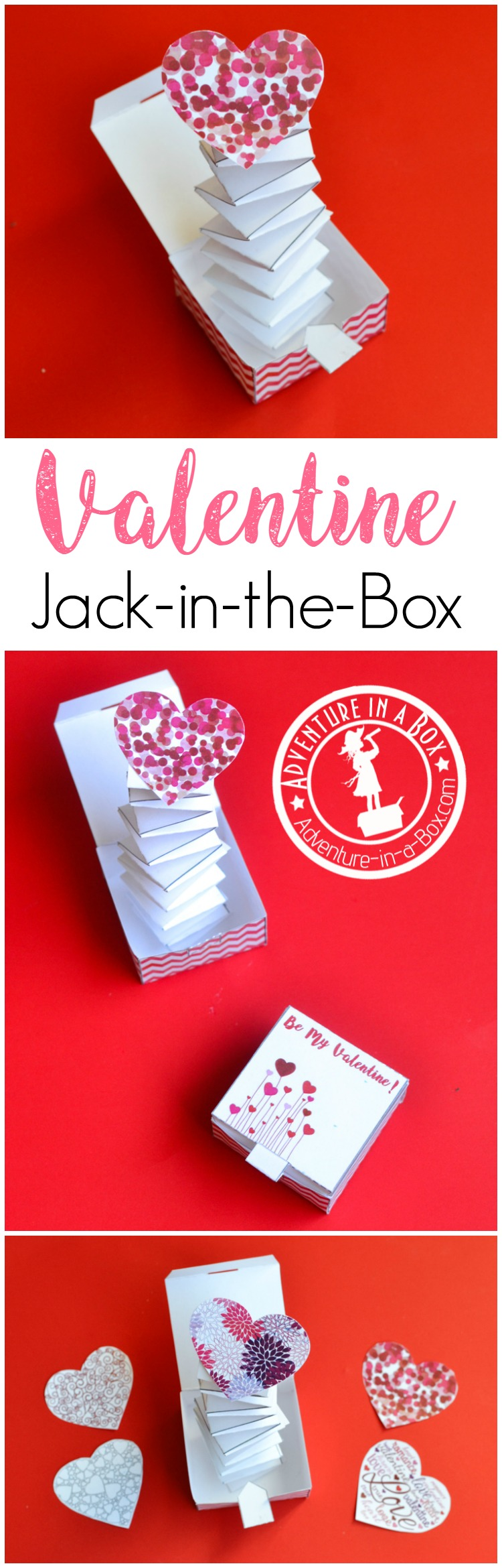 This Valentine's Day, give someone a handmade Jack in the Box with a throbbing heart inside! A simple and fun Valentine STEM craft for kids.