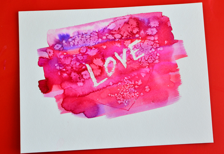 Painting Watercolour Hearts With Kids Adventure In A Box