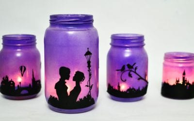 Romantic Evening Mason Jar Lanterns