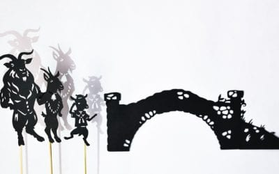 Three Billy Goats Gruff: Shadow Puppet Play with Printables