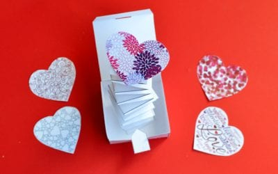 Jack in the Box Valentine Paper Craft