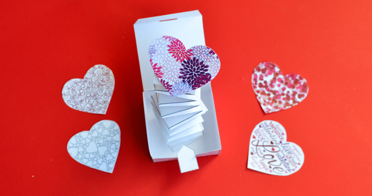 Jack in the Box: Valentine Paper Craft