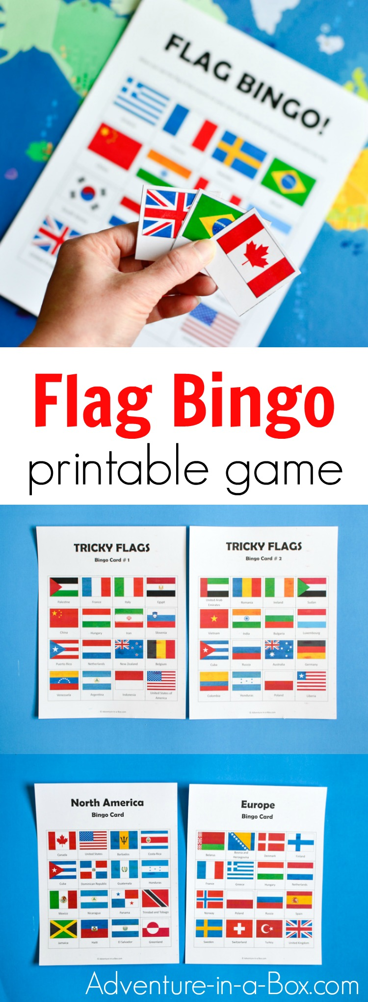 photo relating to Printable Flags titled Flags of the World-wide Bingo: Printable Video game for Young children