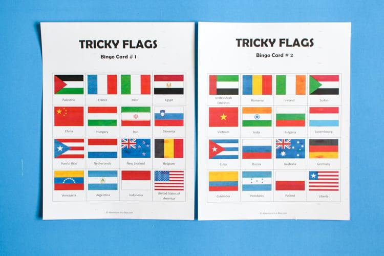 photo regarding Printable Flags referred to as Flag Bingo Printable Geography Recreation