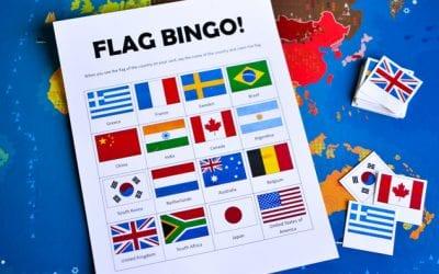Flags of the World Bingo: Printable Game for Kids