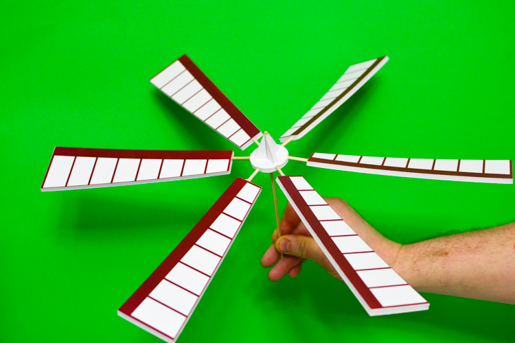 How to Make a Windmill Model with a Printable Pattern | Adventure in