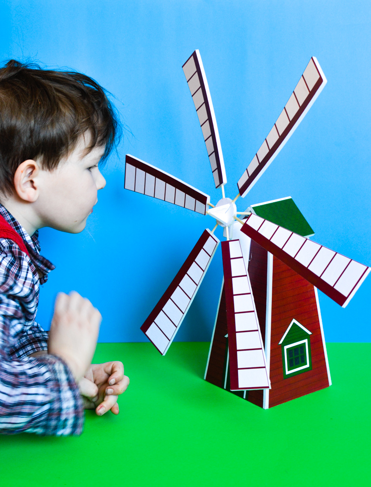 How to make a windmill model with a printable pattern | adventure.