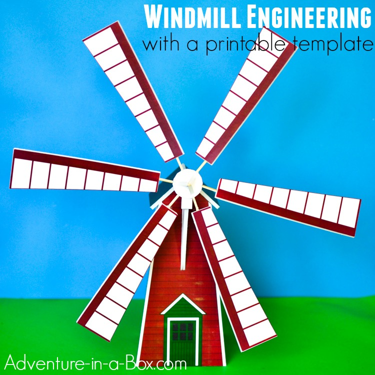 Make a windmill model and hold a scientific study with children! With a printable template, building your own toy windmill is a quick and easy STEM craft.