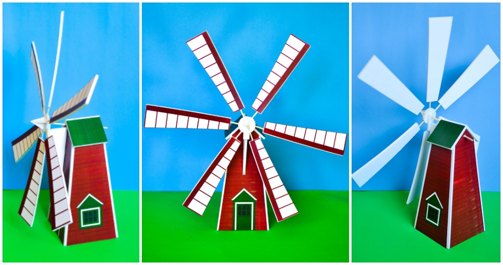 How to Make a Windmill Model with a Printable Pattern