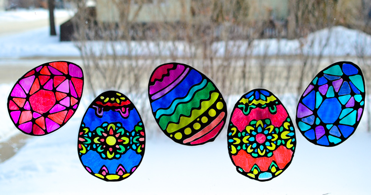 Easter Egg Suncatchers