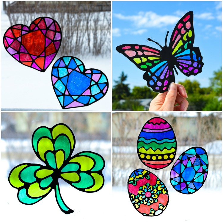 Other black glue suncatchers