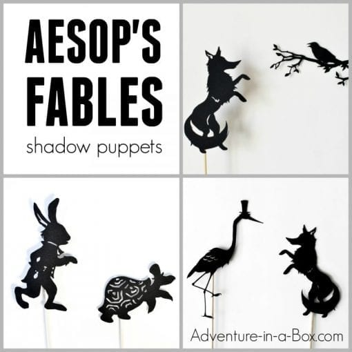 image about Printable Fables referred to as Aesops Fables: Printable Puppets