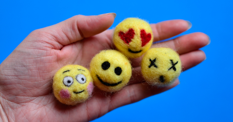 Make Emoji Craft: Needle Felting for Kids