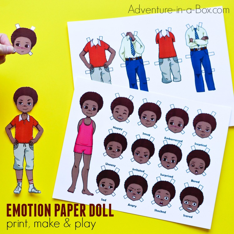 Paper Dolls for Studying Emotions: Boy Version