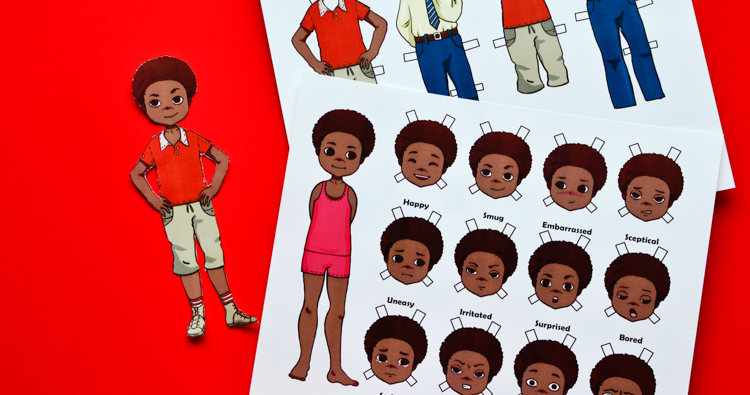 Emotion Paper Dolls for Teaching Kids about Emotions: Boy Edition