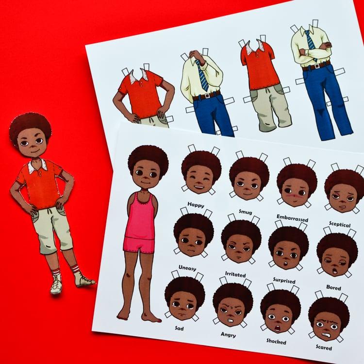 Emotion Paper Dolls: Boy