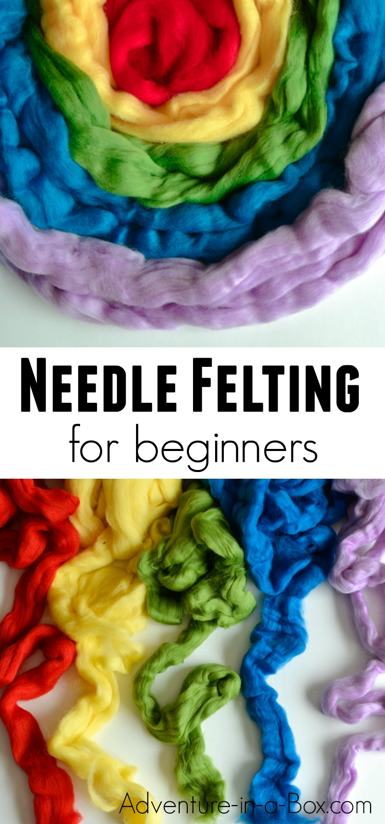 If you like acquiring new crafts or always wanted to try needle felting in particular, this is a tutorial to get you started. Included are my recommendations for basic needle felting tools and a few simple needle felting techniques to try! #needlefelting #artsandcrafts #handmade #arttutorial