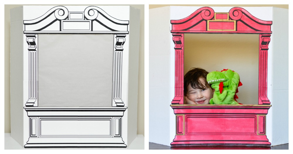 Make a Simple Puppet Theatre from Cardboard