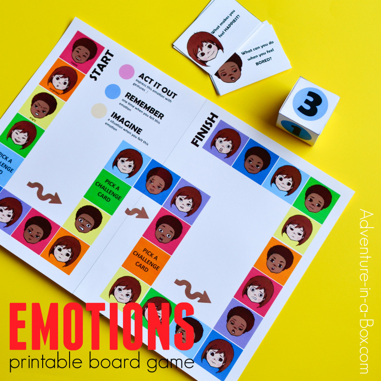 picture relating to Feelings Cards Printable referred to as Feelings Printable Board Recreation