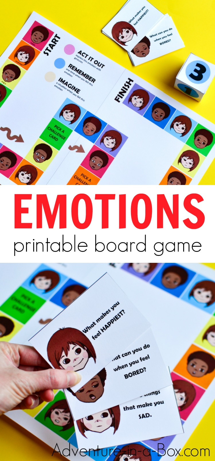 photograph regarding Printable Board Games known as Printable Board Recreation for Little ones in direction of Discover with regards to Feelings
