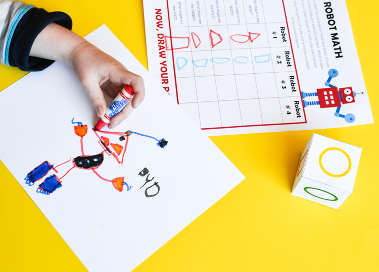 Draw a Robot: Printable Math Game - Adventure in a Box