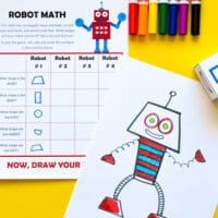 Robot Math: Roll-and-Draw Game