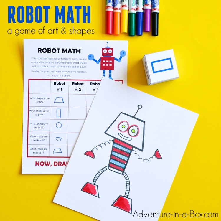 Robot Math: Free Printable Math Game