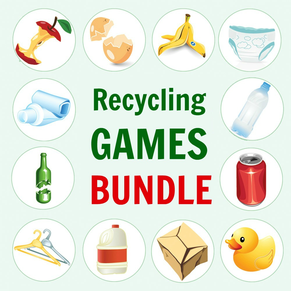 picture about Printable Kids Games named Printable Recycling Online games for Children Deal