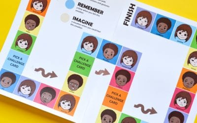 Printable Board Game for Kids to Learn about Emotions