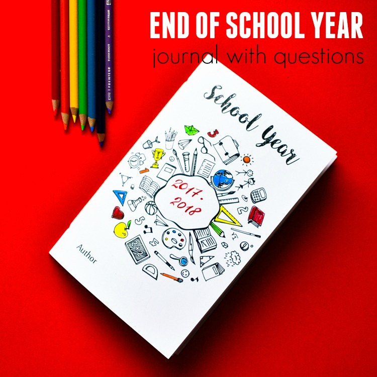 Encourage kids to answer the questions in this free printable journal to celebrate the end of a school year and to capture its memories forever! A great craft for the last day of school. #teacher #endoftheyear #printable #journal #kidsactivities #freeprintable