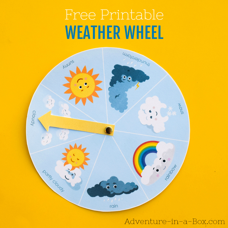 photo relating to Printable Weather known as Cost-free Printable Temperature Wheel for Kids Journey within a Box