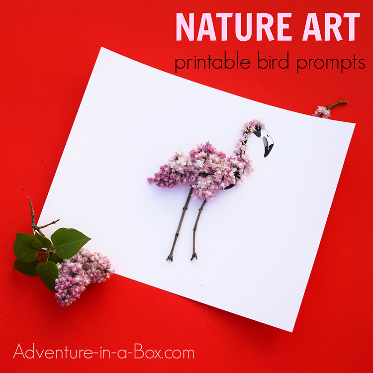 Nature art prompts: birds