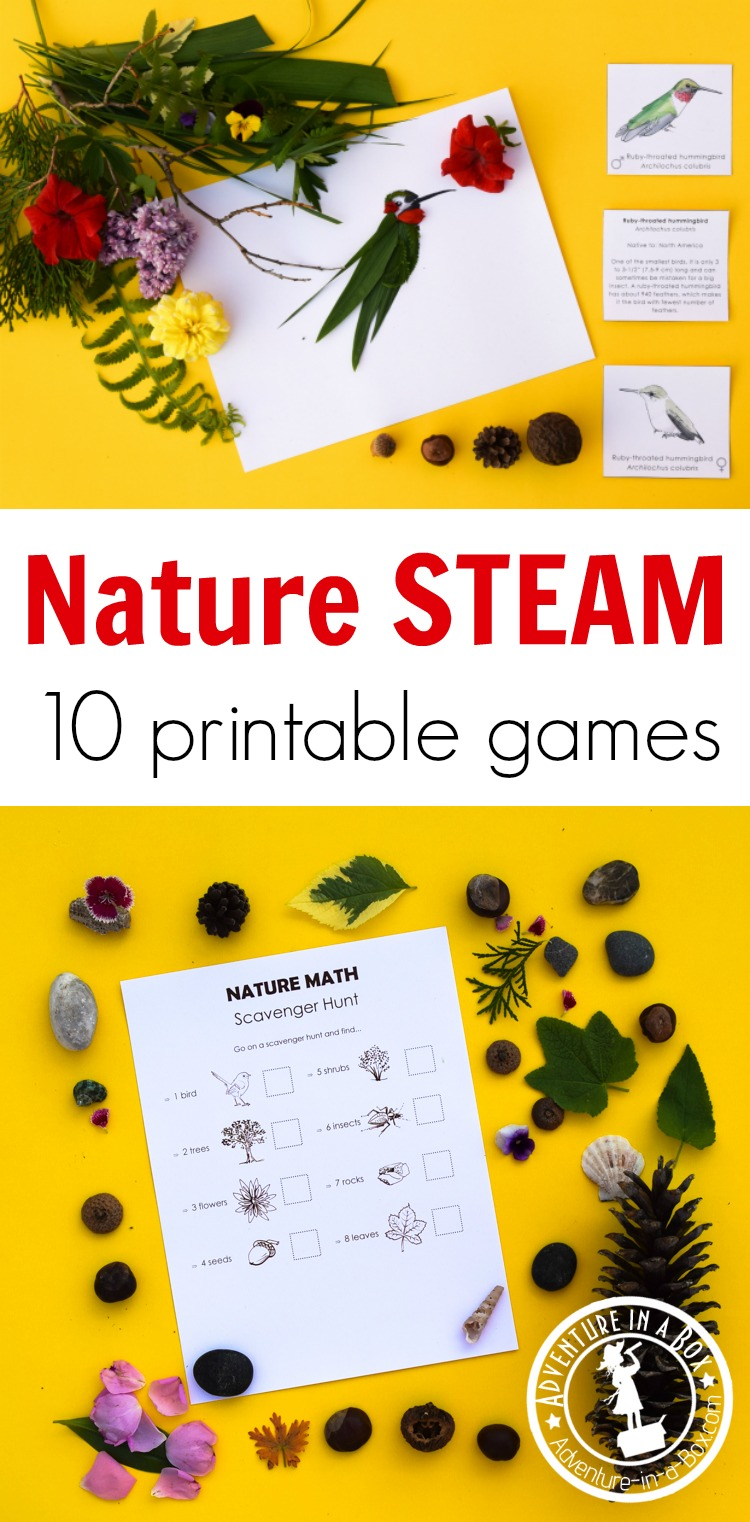nature steam pack explore nature with 10 printable projects adventure in a box. Black Bedroom Furniture Sets. Home Design Ideas