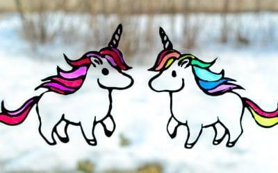Rainbow Unicorn Suncatcher to Make with Kids