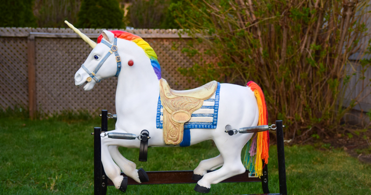 DIY Rainbow Unicorn Spring Horse Makeover