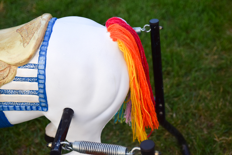 DIY Rainbow Unicorn Spring Horse Makeover | Adventure in a Box