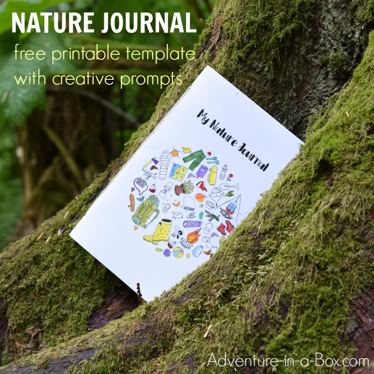 Learn how to start a nature journal with kids using a free printable template that offers ten creative prompts. It's a perfect nature STEM activity for kids as it encourages them to go outside, explore nature scientifically, then record their nature finds artistically!