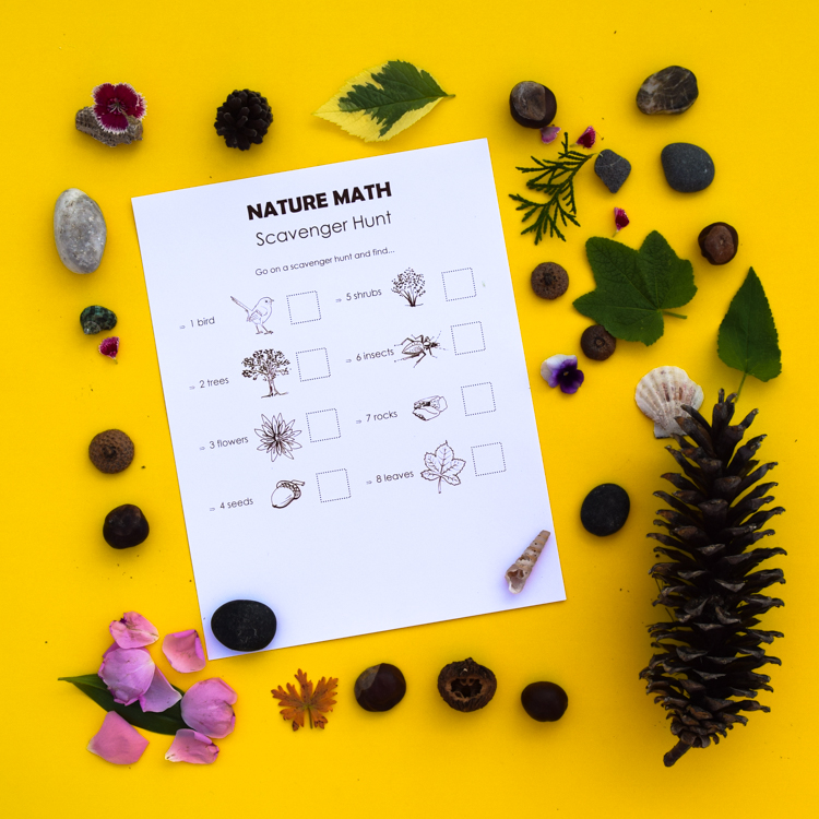 image about Printable Nature Scavenger Hunt named Mother nature Math Scavenger Hunt: Cost-free Pattern Experience inside of a Box