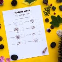 Math in Nature Scavenger Hunt for Kids