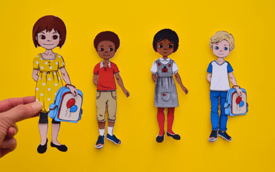 Back to School Printable Paper Dolls