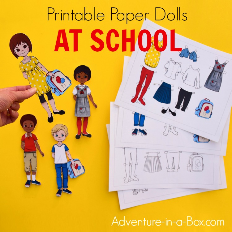 picture relating to Paper Dolls to Printable identify Printable Costume-Up Paper Dolls: At College or university