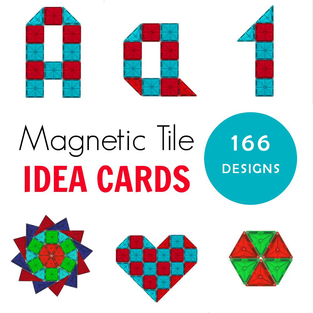 166 Magna Tiles Ideas for Kids to Build, with printable cards for inspiration