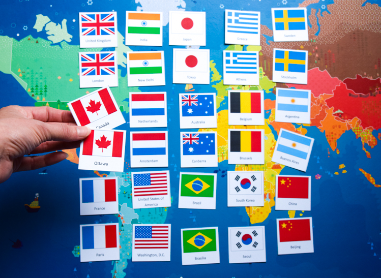 image relating to Printable Memory Games for Seniors named Nations Capitals of the International: Printable Geography Sport