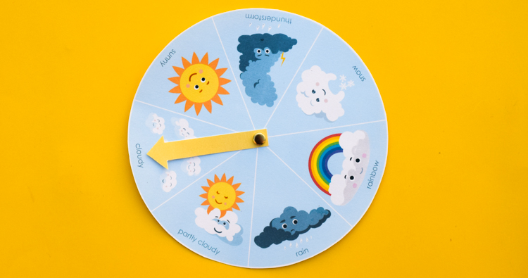 Free Printable Weather Wheel for Kids